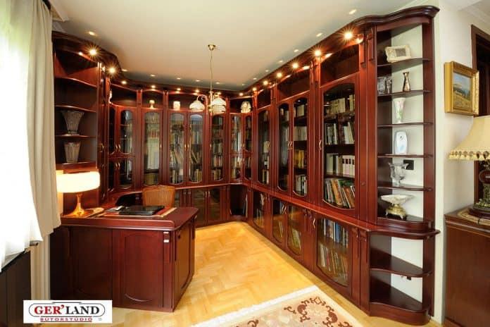 Egyedi dolgozószoba és könyvtár