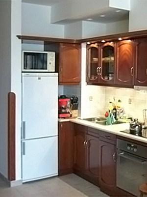 hűtőbeépítés és konyhapult világítás