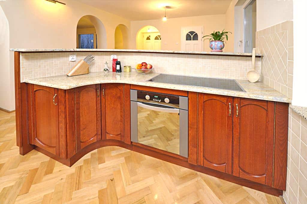 Gránit konyhapult beépített főzőlap