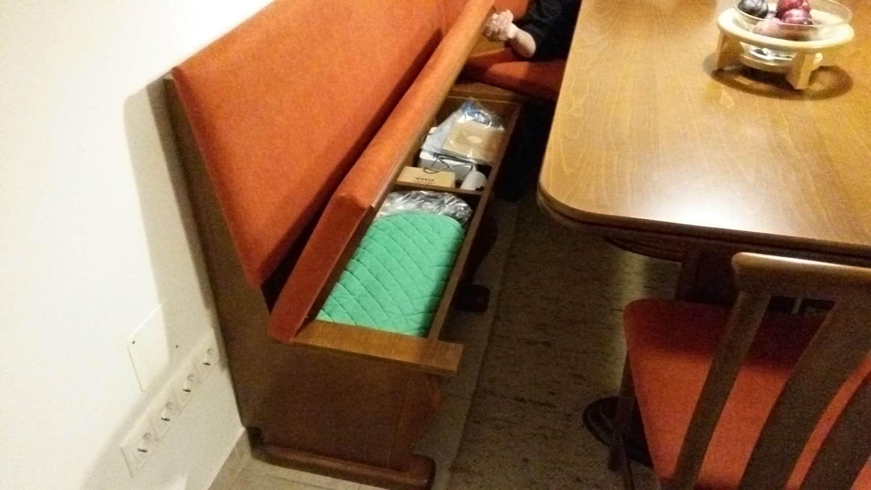 étkező pad tároló