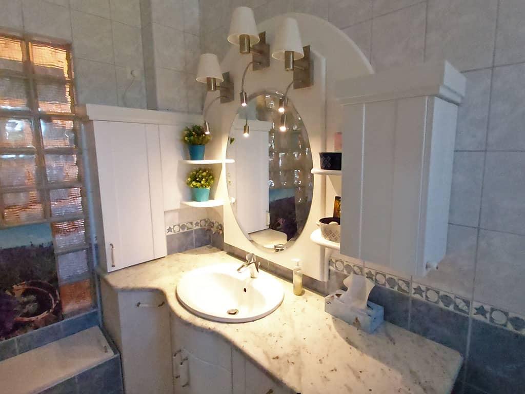 Ovális fürdőszobai tükör világítással